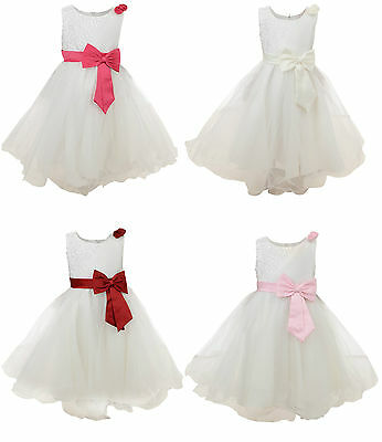 Girls Dress Bridesmaid Flower Wedding Party Formal Dresses Bnwt