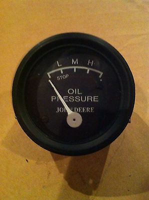 John Deere Oil Gauge With Black Face For 2 Cyl Tractors