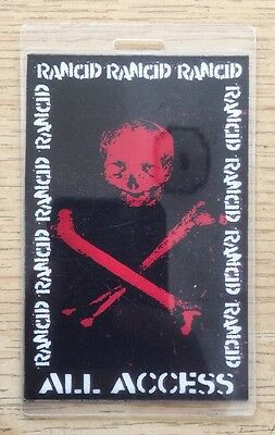 Rancid All Access Backstage Pass Concert punk tim armstrong timebomb epitaph