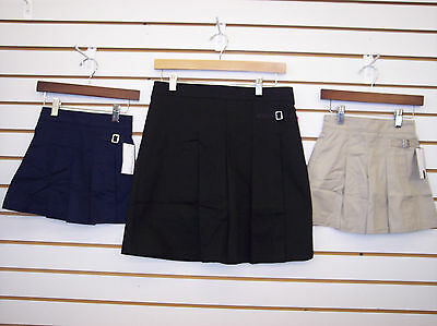 Girls Navy & Khaki Uniform Skorts Size 5 - 16 1/2