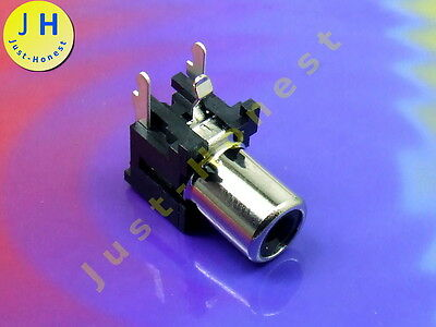 RCA PCB Connector Buchse 1 Weg / way  AUDIO Schwarz / Black  #A122