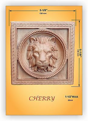 Wooden carved decor with Lion Head   RZ/_018/_22