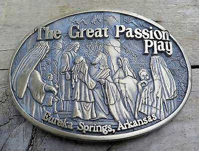 The Great Passion Play Eureka Springs Arkansas Religious Vintage Belt Buckle