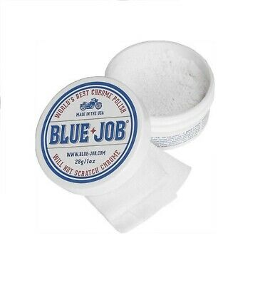Blue Job Chrome Polish Removes Bike Exhaust Pipe Bluing, BIGGER Tub Same Price