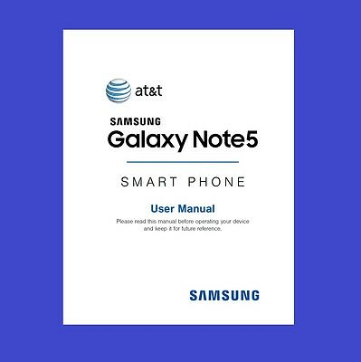 Samsung Galaxy Note5 User Manual for AT&T (model SM-N920A)