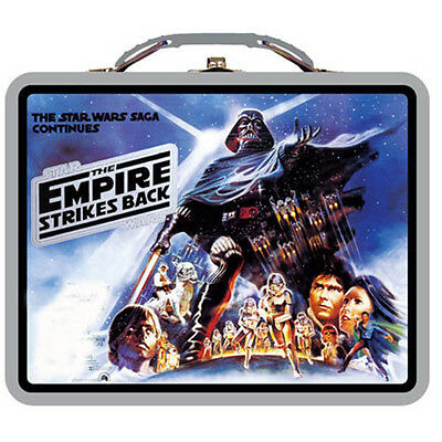 Star Wars Metal Tin Lunch Box Saga Continues NEW Tote Carrier Toys Kids Durable