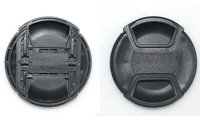 67mm Snap-On Center Pinch Front Lens Cap Cover for Camera Sony Canon Nikon Fuji