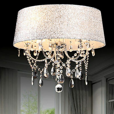New Ceiling Fxture Pendant Light Colourful Shaded Crystal Chandelier Small/Large