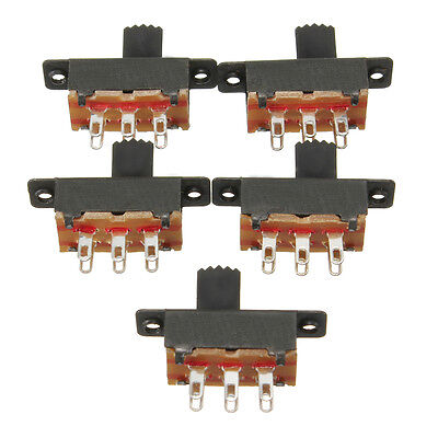 5x Black Mini Miniature 50V 0.5A On/On DPDT Power 6 Pins Slide Switch Brand New