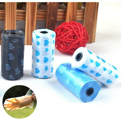 5 Rolls/100Pcs Dog Pet Waste Clean Poop Bags Puppy Pick Up Pooper Bags Supplies