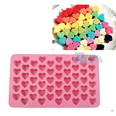 Silicone Mould 55 Mini Heart Chocolate Candy Cake Cookies DIY Craft Baking Tool