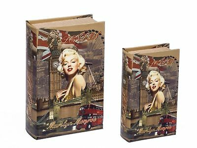 2x schatulle stadt zahlmappe buchattrappe box schmucketui buchtresor buchsafe eur 37 90. Black Bedroom Furniture Sets. Home Design Ideas
