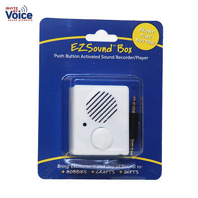 EZSound Box - Front Play Button for Personal Messages, Hobbies, Stuffed Toys,etc