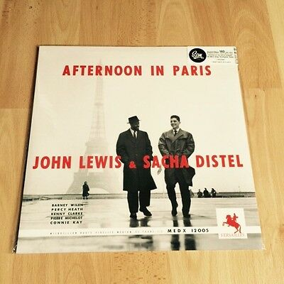 John Lewis Sacha Distel Afternoon In Paris Sam Records 180g Vinyl LP Versailles