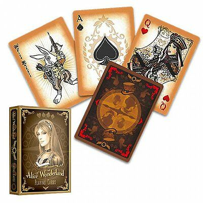 Alice In Wonderland Gold Deck Playing Cards By Gamblers Warehouse Magic Tricks
