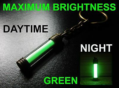 The BRIGHTEST Glow In The Dark KEYRING Money Can Buy! Pure Strontium Aluminate!