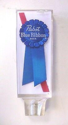 Vintage Pbr Pabst Blue Ribbon Draft Beer Clear Lucite Acrylic Tap Handle