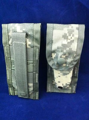 Lot of 2 NEW GENUINE USGI MOLLE II SINGLE 9mm MAGAZINE POUCH DIGITAL CAMO