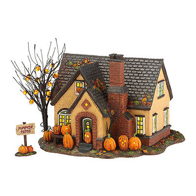 Department 56 Halloween - THE PUMPKIN HOUSE, SET OF 2 - New in Box
