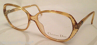 VTG DIOR EyeGlasses GLASSES Lunette Brille 2429 Beige Yellow Gold Frame Optical