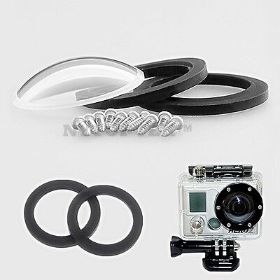 New Glass Lens Kit Cover Lens Waterproof Housing Case for GoPro HD Hero 2