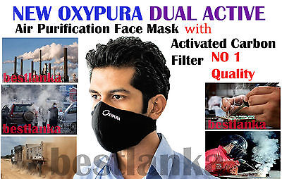 Anti Smoke Oxypura Air Purifying Face Mask activated carbon filter multi layer