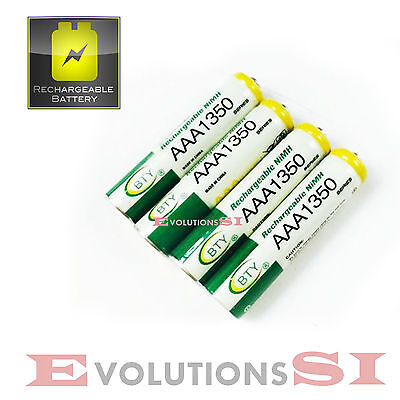 4X PILAS AAA 1350 mAh RECARGABLES NiMH BATERIAS 1.2V BATTERY RECHARGEABLE