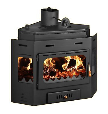 FirePlace Inset Wood Burning Stove Insert Corner MultiFuel Built in Prity АW16