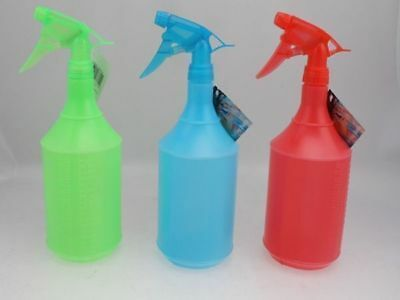 48 x Spray Bottles 1Litre 3 col mix Multi use Garden Hairdresser Wholesale Lot