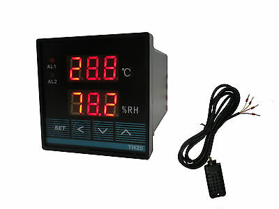 Digital Temperature and Humidity Controller with Relay Output (48x48/Celcius)