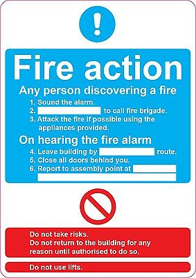 [ 205x290mm ] FIRE ACTION - Assembly Point | health and safety | signs/stickers