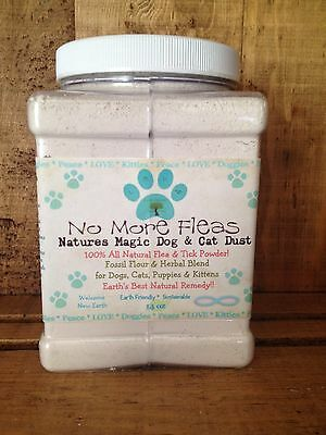 Organic Natural Flea & Tick Treatment Powder for Dogs & Cats 14 oz