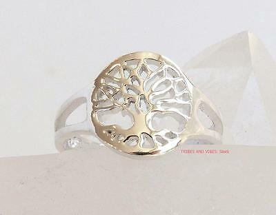 Tree of Life TOE RING or MIDI Sterling Silver adjustable pagan wicca Jewellery