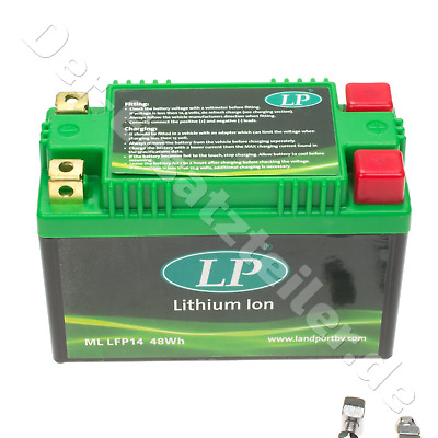Lithium-Ionen Batterie Landport ML LFP14 für Honda VTR SP1 1000, VTR SP2 1000