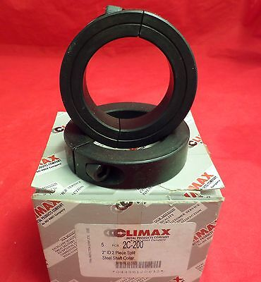 CLIMAX METAL PRODUCTS 2C-200 Shaft Collar, Clamp, 5Pc, 2 In, Steel