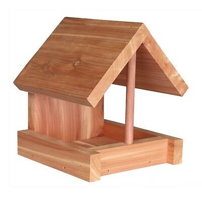 Bird Feeder Outdoor with Wood Natural Cedarwood Decoration for Food Seed TRIXIE