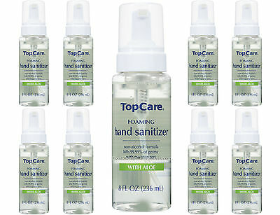 TopCare Foaming Hand Sanitizer With ALOE non-alcohol formula 8 FL OZ x 3 Pack