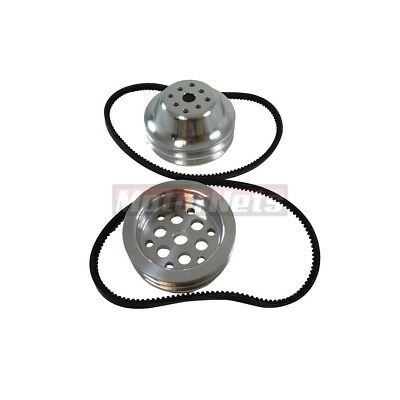 """Small Block Chevy Aluminum Direct Drive Short Water Pump Pulley 2 Groove 5.5"""""""