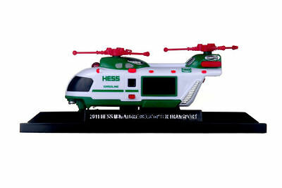 2011 Miniature Helicopter Mint-in-Box   2011 Hess Mini Truck