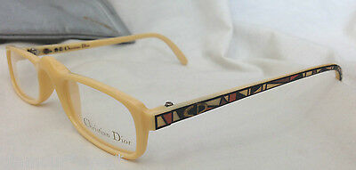 VTG DIOR EyeGlasses GLASSES Lunette Brille 2356 Beige Frame Optical Spectacle