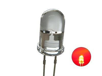 S625 - 20 Piece Flickering LEDs 5mm Red Clear Flickering with Control