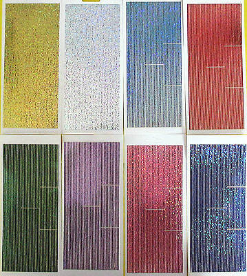 STRAIGHT BORDER LINES DIAMOND SHIMMER HOLOGRAPHIC PEEL OFF STICKERS Cardmaking