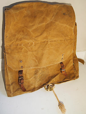 Vintage 60's Boy Scouts Of America Canvas & Leather No.574 Yucca Pack Backpack