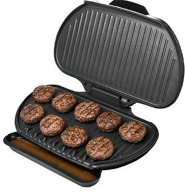 George Foreman Grill Family Size Indoor Electric Large Panini Burger Steak RV XL