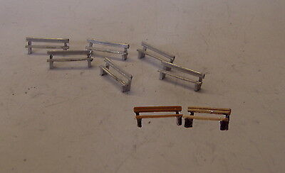 P&D Marsh N Gauge n Scale B59 Short seats/park benches (6) castings need ptng