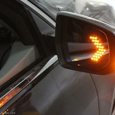 Yellow 14-SMD LED Arrow Panels Light For Car Side Mirror Turn Signal Indicator