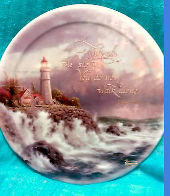 Conquering the Storms by Thomas Kinkade 7.75 in collectible plate NEW