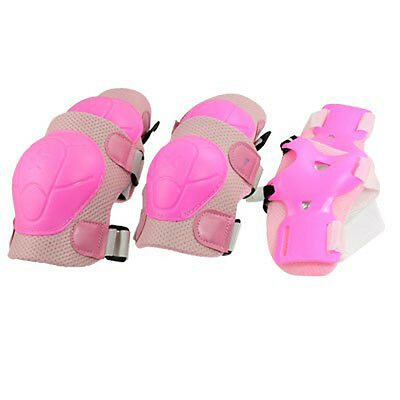 Skating Gear Knee Elbow Pads Wrist Support Set Pink for Children BF