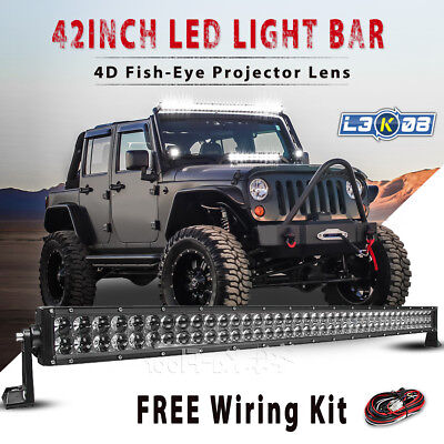 42inch 560W PHILIPS LED Work Light Bar Spot Flood Offroad UTE 4x4WD Driving 45""