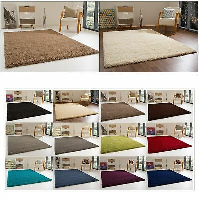 Shaggy Rug Happy Xl Thick Soft Pile Small Extra Large New Non-Shedding Carpets